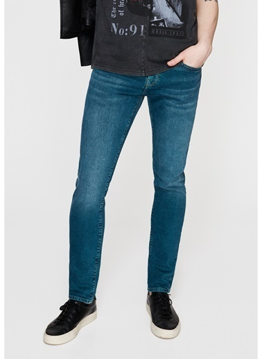 Mavi Jean Pantolon   James - Super Skinny Yeşil